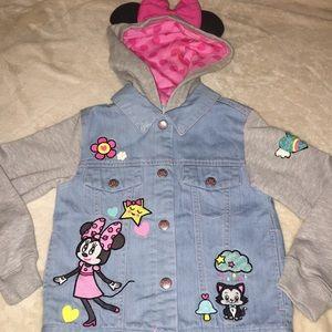 NWOT Disney Girls Minnie Mouse Jean Jacket